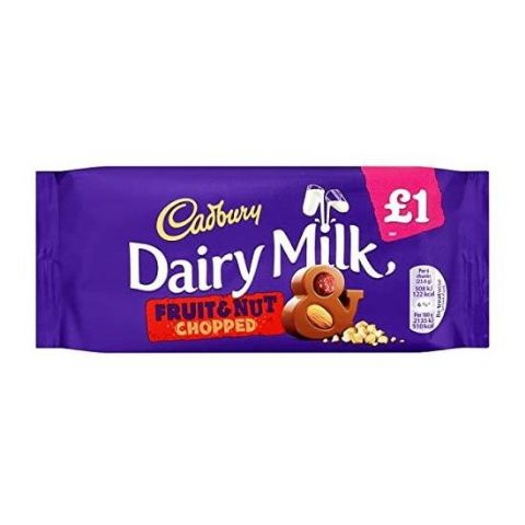 Dairy Milk Fruit & Chopped Nut Chocolate Bar Cadbury 95g